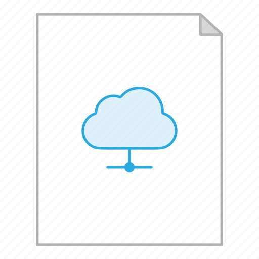 business, cloud, document, file, office, server, storage icon