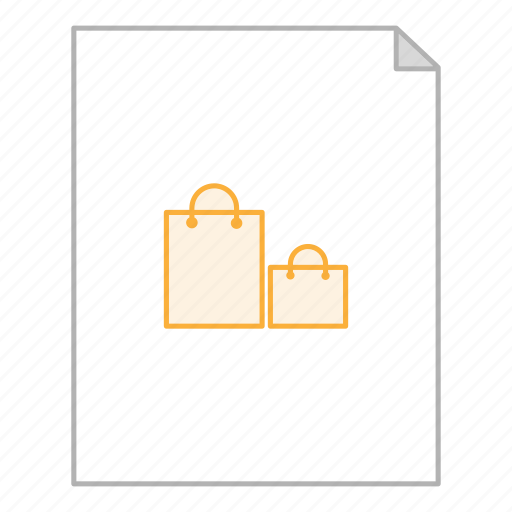 business, document, file, office, receipt, shop, shopping icon