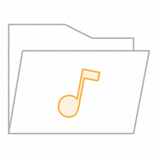 business, documents, folder, gray, music, musical, office icon