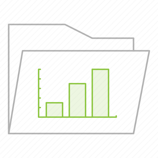 business, charts, documents, folder, office, presentation, reports icon
