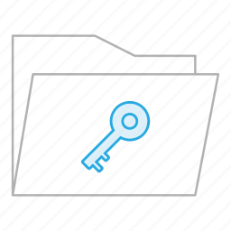 business, documents, folder, locked, office, secure, security icon