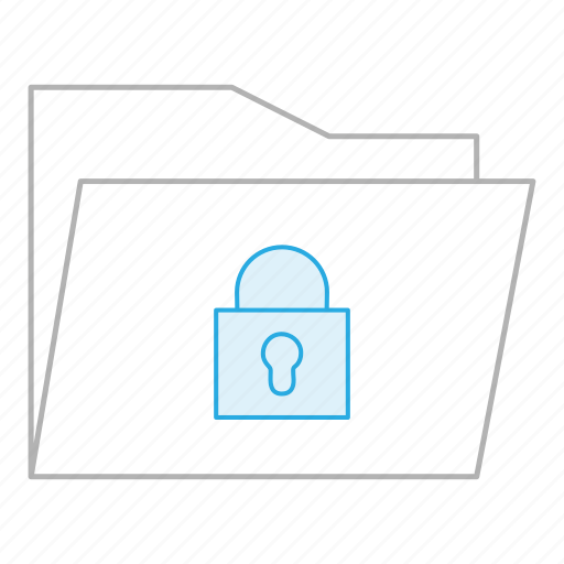 business, documents, folder, lock, locked, office, security icon