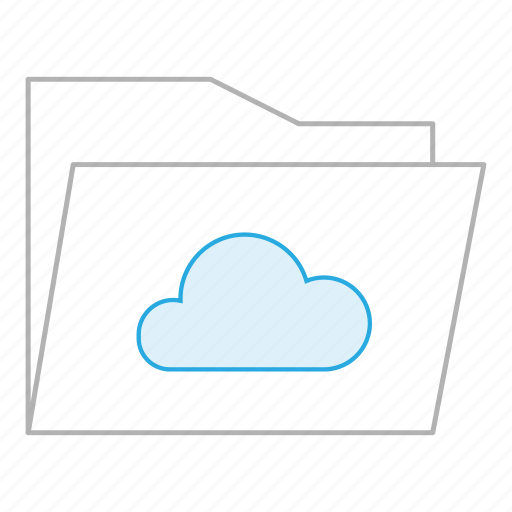 business, cloud, documents, drive, folder, office, storage icon