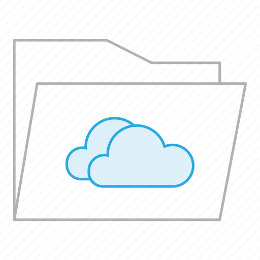 business, cloud, clouds, documents, folder, office, storage icon