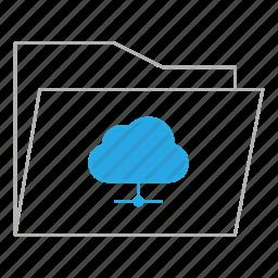 business, cloud, documents, folder, office, server, storage icon