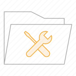 business, documents, folder, maintenance, office, settings, tools icon
