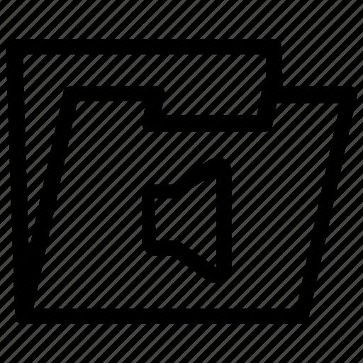audio, folder icon