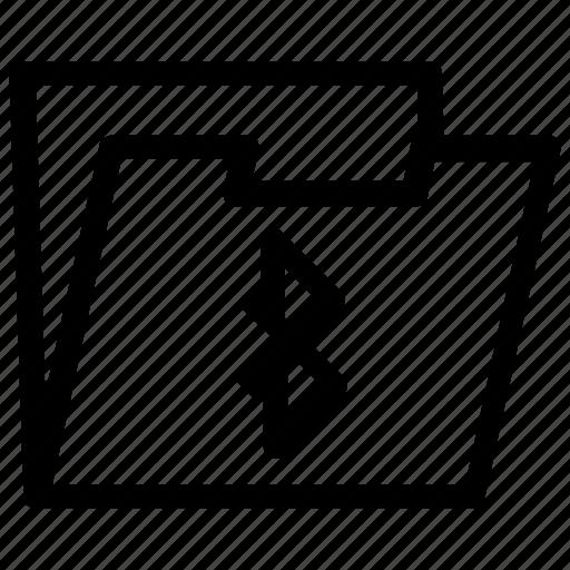 bluetooth, folder icon
