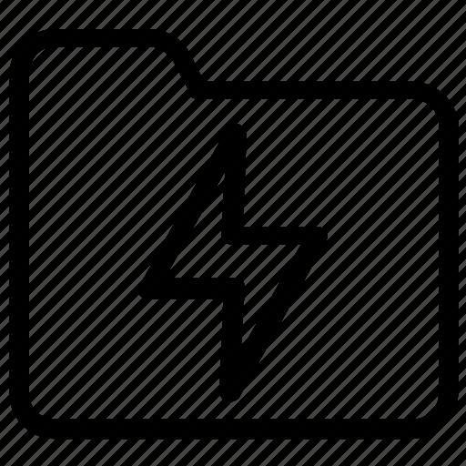 electricity, folder icon