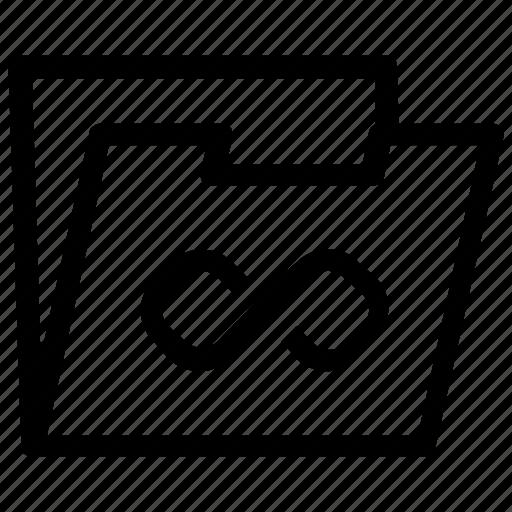 folder, infinite icon