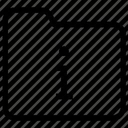 folder, information icon
