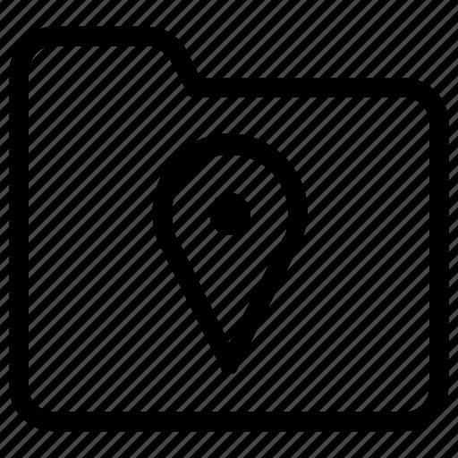 folder, location icon