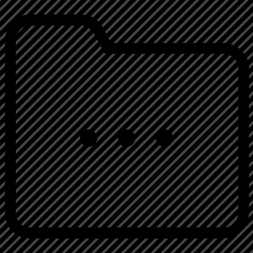 folder, settings icon