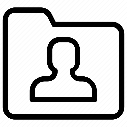 contact, folder icon