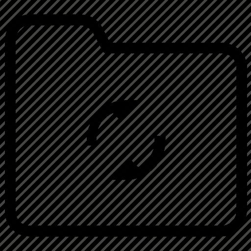 folder, refresh, sync icon