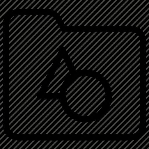 folder, shapes icon