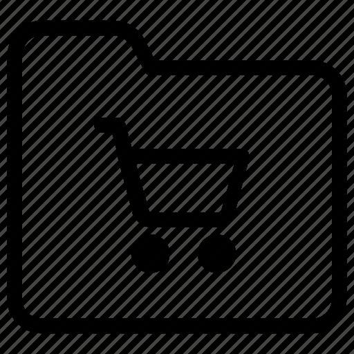 folder, shopping icon