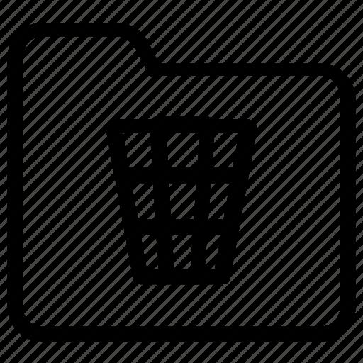 folder, trash icon