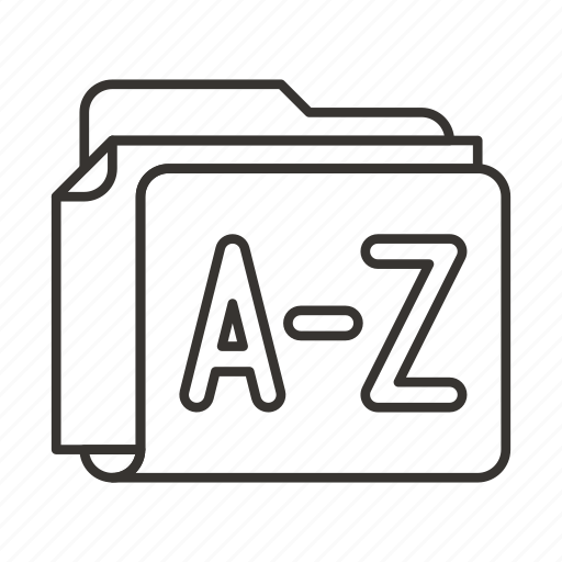 alphabet, document, documents, file, files, folder icon