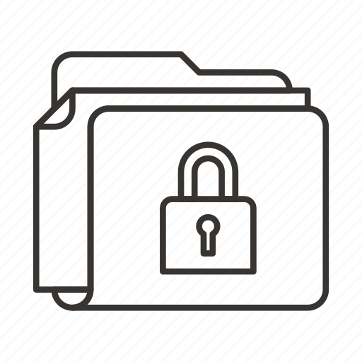 document, documents, file, files, folder, lock, security icon