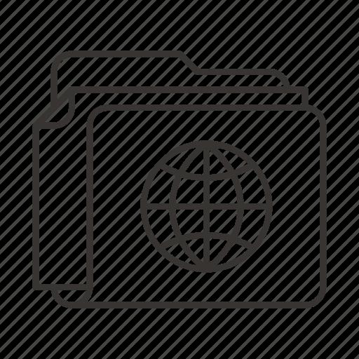 document, documents, file, files, folder, globe, world icon