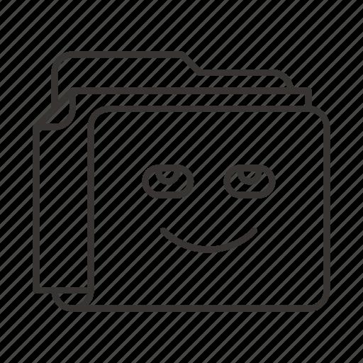 document, documents, file, files, folder, fun, smile icon