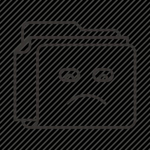 document, documents, file, files, folder, sad, smile icon