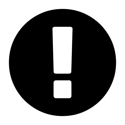 circle, exclamation icon