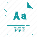 extension, file, font, font extension, pfb, type, type font icon