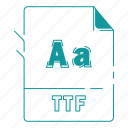 extension, file, font, font extension, ttf, type, type font