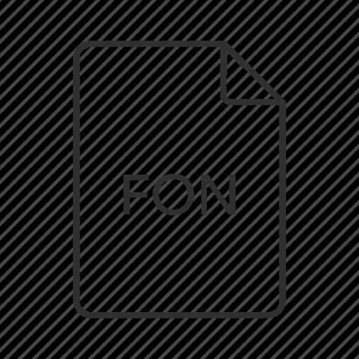 .fon, fon document, fon file, fon file icon, fon icon, font file format, microsoft windows font icon