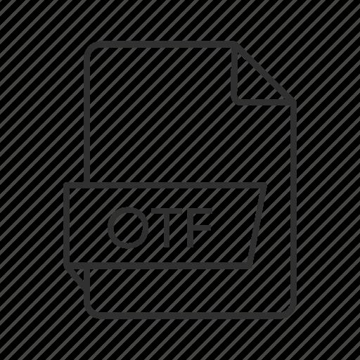.otf, opentype feature file, opentype features, otf document, otf file, otf file icon, otf icon icon