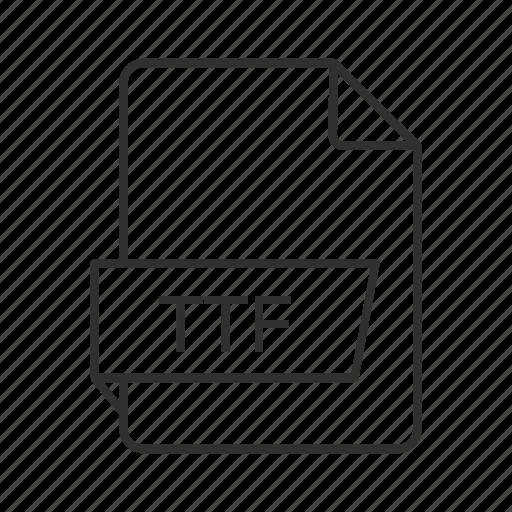.ttf, tff document, truetype font, truetype font file, ttf file, ttf file icon, ttf icon icon
