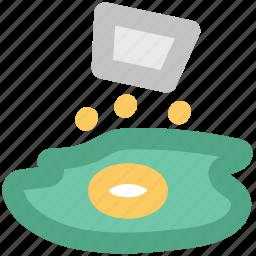 breakfast, egg, egg omelette, scrambled egg, shak fried egg icon