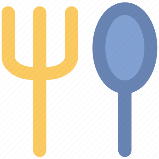 cutlery, flatware, fork, fork and spoon, restaurant, spoon icon