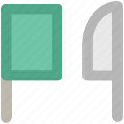 butcher equipment, butcher knife, chef knife, chopping knife, cleaver, knife icon