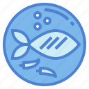 fish, food, fried, healthy icon