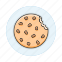 1, baked, bakery, baking, chips, chocolate, cookie, food, good, sweet icon