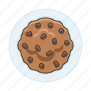 2, baked, bakery, baking, chips, chocolate, cookie, food, good, sweet icon