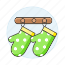 cooking, food, gloves, hanger, hooks, kitchen, oven, utensils, wall icon