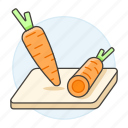 board, carrot, carrots, cutting, food, fruits, vegetables