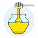 1, crystal, dipper, food, honey, ingredient, pot, stick, sweets icon
