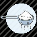 baking, cooking, cookware, flour, food, kitchen, kitchenware, measuring, salt, spoon, utensils icon