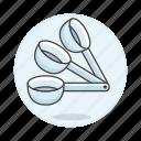 2, baking, cooking, cookware, food, kitchen, kitchenware, measuring, spoon, utensils icon