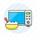 appliance, bowl, cooking, food, kitchen, microwave, serving, spoon icon