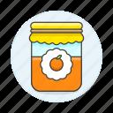 confiture, food, ingredient, jam, jar, marmalade, orange, preserve, sweets icon