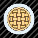 baked, bakery, baking, crust, food, good, lattice, pie, sweet icon