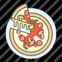 champignon, cheese, fast, fastfood, fat, food, junk, mozzarella, mushroom, pepperoni, pizza, salami