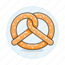 fast, fastfood, fat, food, junk, pretzel, pretzels, snack icon