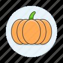 food, fruits, pumpkin, squash, vegetables icon
